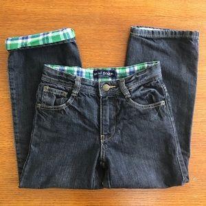 MINI BODEN Kids Lined Black Jeans - Adjustable 6Y